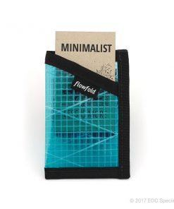 Flowfold Minimalist Card Holder Wallet Cyan
