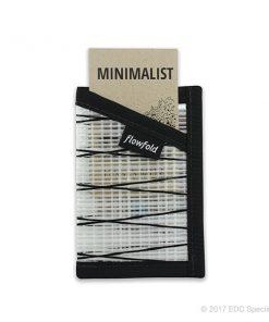 Flowfold Minimalist Card Holder Wallet White
