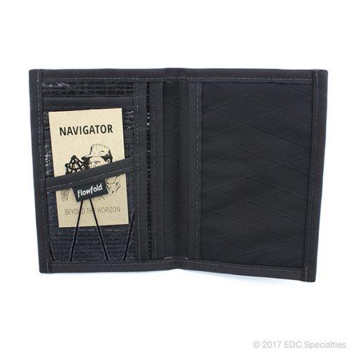Flowfold Navigator Limited Passport Holder Jet Black