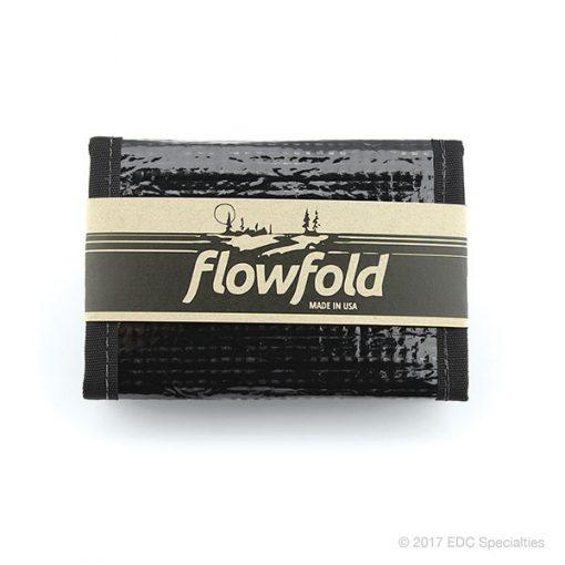 Flowfold Traveler Trifold Wallet Black