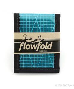 Flowfold Vanguard Billfold Wallet Cyan
