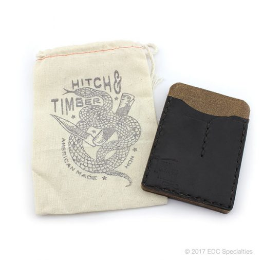 Hitch & Timber Black EDC Card Caddy - Horween Chromexcel Leather