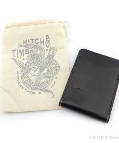 Hitch & Timber Black Flat Jacket Wallet ~ Leather Front Pocket