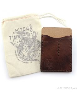 Hitch & Timber Chestnut EDC Card Caddy - Leather Card Wallet
