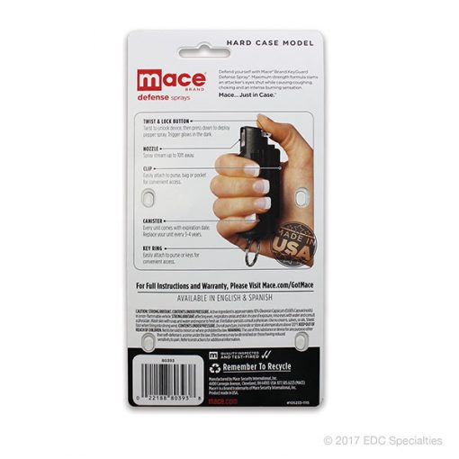 MACE Keyguard Pepper Spray Purple Hard Case