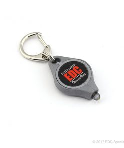 Photon Freedom Micro LED Keychain Flashlight Platinum (EDC Specialties Logo)