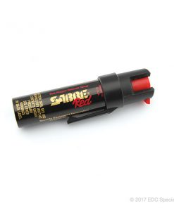 Sabre 3-IN-1 Compact Pepper Spray with Clip Black