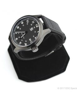 Smith & Bradley Springfield PVD Coated Black Watch with Black Cordura Strap