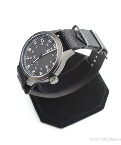 Smith & Bradley Springfield PVD Coated Black Watch with Black G10 NATO Strap