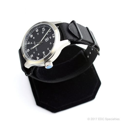 Smith & Bradley Springfield Stainless Steel Watch with Black G10 NATO Strap