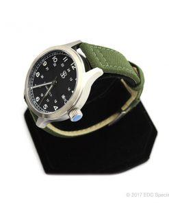 Smith & Bradley Springfield Stainless Steel Watch with Green Cordura Strap