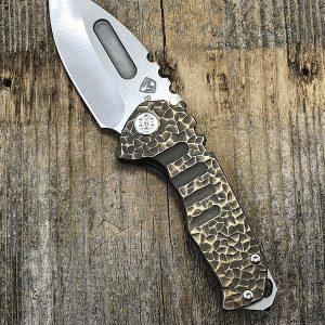 Medford Knife & Tool Praetorian Genesis T S35VN Drop Point Blade Sculpted Ti Handle