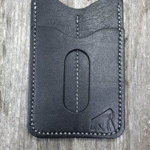 Gorilla Leather Works Handmade Premium Black Leather Wallet with Dual Tool Slips