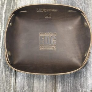 EDC Specialties Heavyweight Large EDC Accessory Tray Brown American Leather