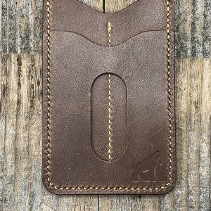 Gorilla Leather Works Handmade Premium Brown Leather Wallet with Dual Tool Slips