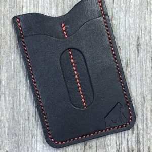 EDC Specialties Gorilla Leather Handmade Premium Black Leather Wallet with Dual Tool Slips