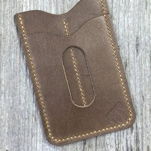 EDC Specialties Gorilla Leather Handmade Premium Brown Leather Wallet with Dual Tool Slips