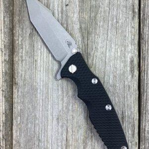 Rick Hinderer Knives Eklipse 3.5″ TWPS CPM20CV Harpoon Tanto WF Black G10
