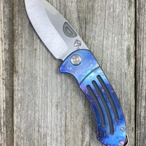 "Medford Knife & Tool Theseus S35VN Tumbled Blade Faced & Flamed ""Chimera"" Handle"