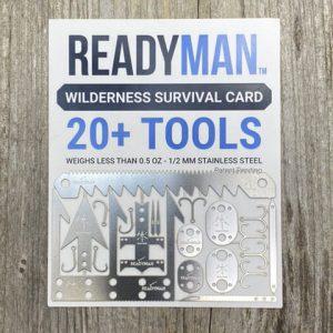 Readyman Wilderness Survival Card 20+ Tools