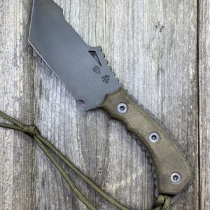 DSK Tactical Fixed Blade CPM154 Vulcan Tanto Chisel Blade Micarta Handle w Kydex Sheath