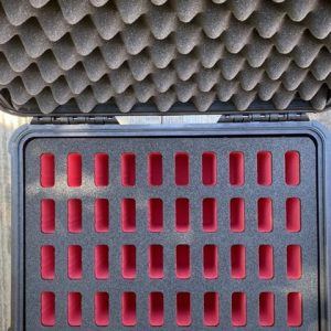 NalPak Group Pelican 1450 40-Knife Case w Custom Red & Black Foam Insert