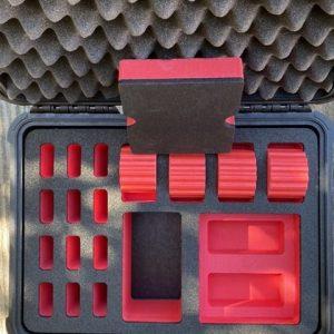 NalPak Group Pelican 1450 EDC Case 4-Watch Combo w Custom Red & Black Foam Insert