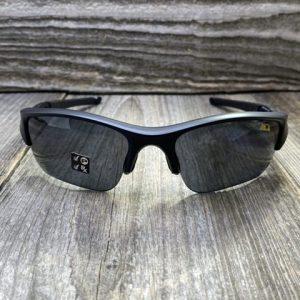 Oakley Flak Jacket Gray Polarized Lenses Matte Black Frames