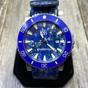 Smith & Bradley Atlantis A2 Dive Watch Blue Ceramic Bezel Kryptek OCEANUS Dial & NATO Strap Quartz Movement